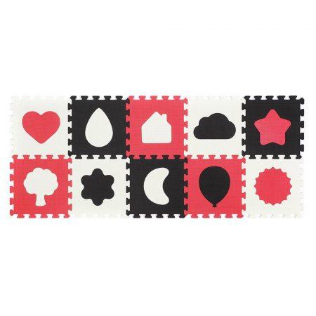 Babyono habszivacs puzzleszőnyeg - formák 6db-os