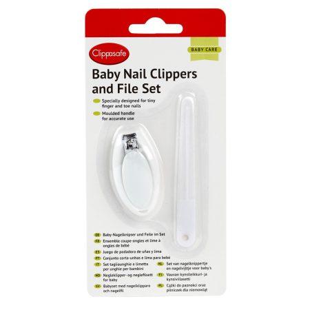 Clippasafe baba körömcsipesz és reszelő