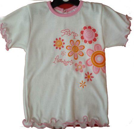 rövid ujjú póló - Virágos - 92-es